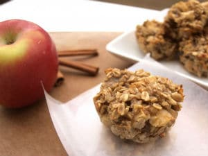Apple cinnamon oatmeal cup
