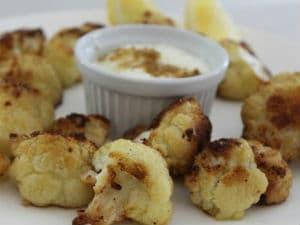Crunchy cauliflower bites