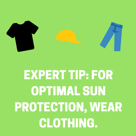 For optimal sunscreen protection