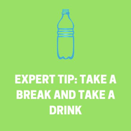 take a break and take a drink