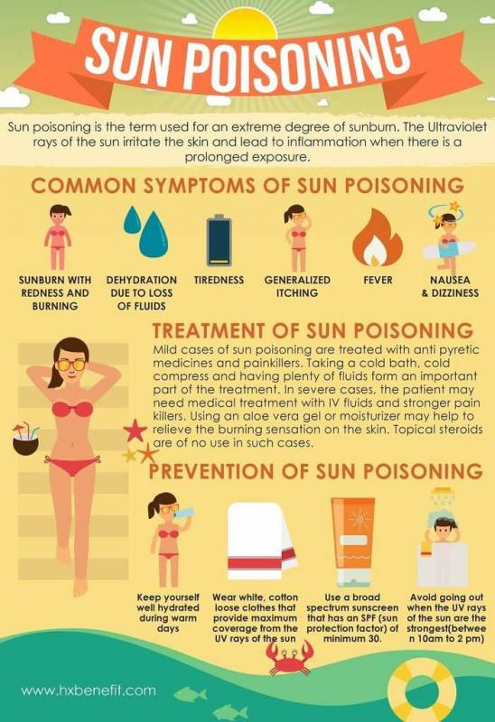 Sun Poisoning Infographic